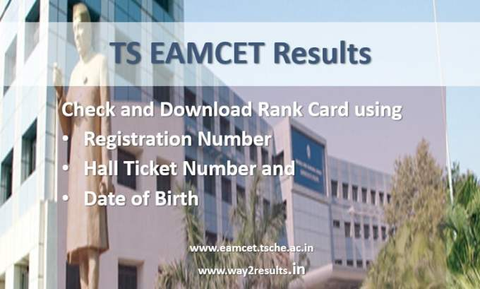 TS EAMCET Results and Rank Card Download