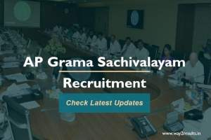 AP Ward Grama Sachivalayam Notification - ap.gov.in