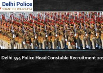 Delhi 554 Police Head Constable Recruitment 2019