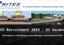 RITES Recruitment 2019 - 93 Vacancies