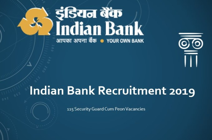 Indian Bank Recruitment 2019