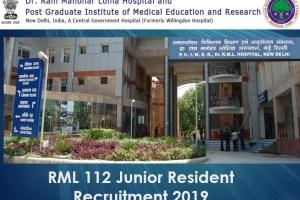 RML 112 Junior Resident Recruitment 2019
