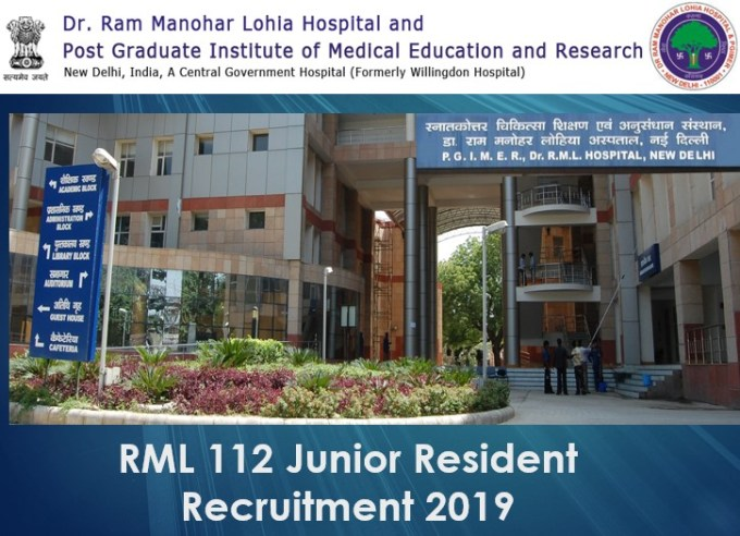 RML 112 Junior Resident Recruitment 2019