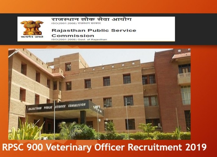 RPSC 900 Veterinary Officer Recruitment 2019