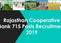 Rajasthan Cooperative Bank 715 Posts Recruitment 2019