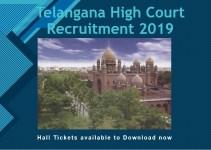 Telangana High Court Admit Card 2019