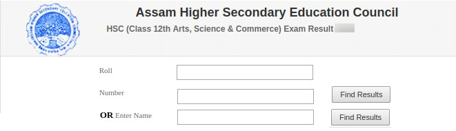 AHSEC HSLC (2nd Year) Result With Name