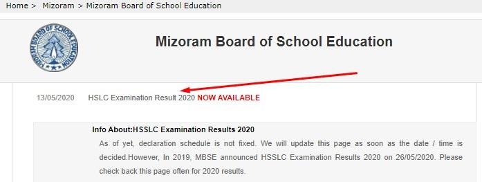 MBSE HSLC Examination Result