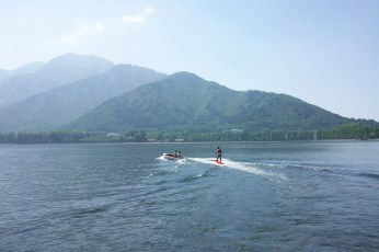Water skiing, Dal lake, Kashmir