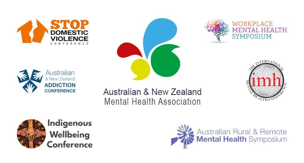 ANZMHA conference logos