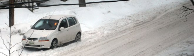 Snowy street.