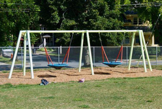 New swings on Jubilee Road at LMST
