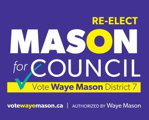 Re-elect Waye Mason