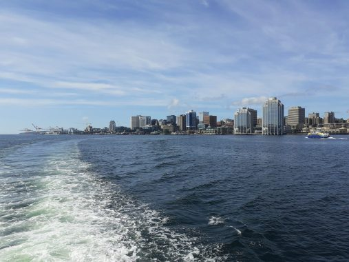 Halifax Harbour July 14 from ferry Rita Joe