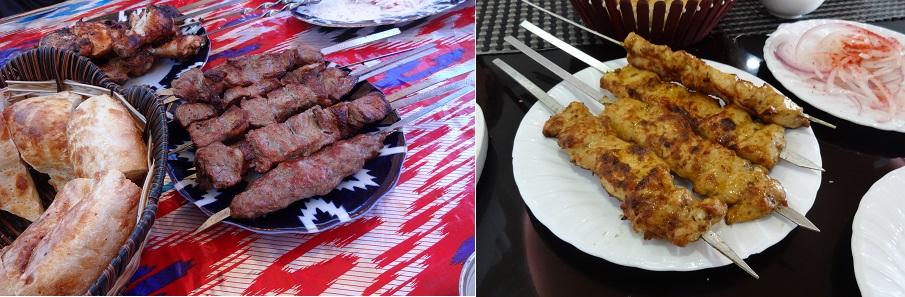 ウズベキスタン料理のシャシリク