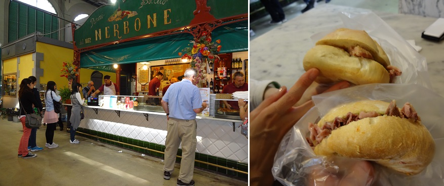 イタリア・フィレンツェの中央市場のネルボーネ
