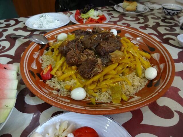 ウズベキスタンで食べたプロフ