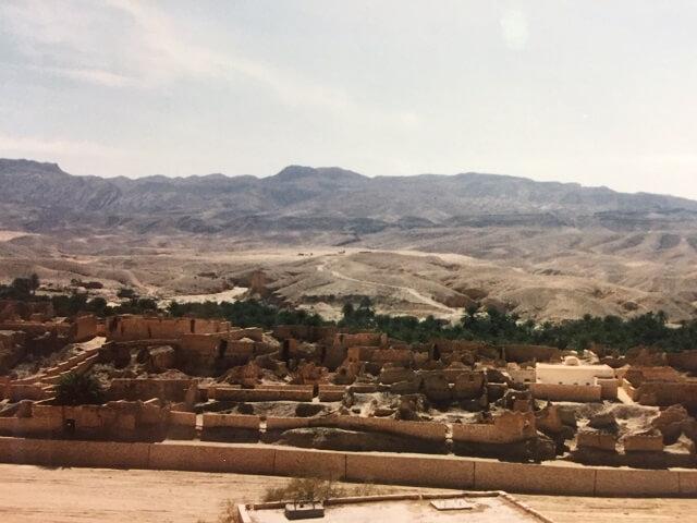 チュニジアのタメルザの廃墟