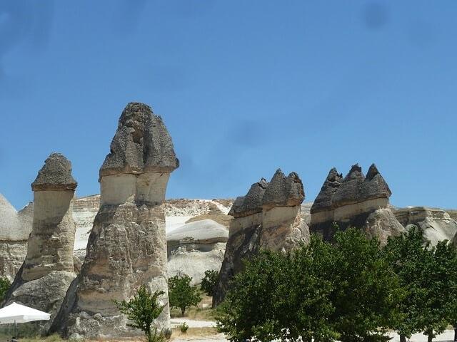 トルコのカッパドキアのキノコ岩