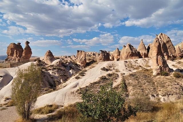 トルコのカッパドキアのラクダ岩