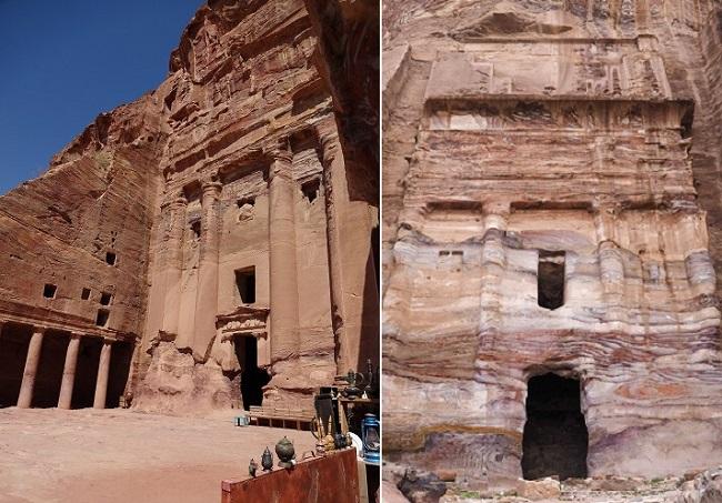 ヨルダン・ペトラ遺跡のアーンの墓