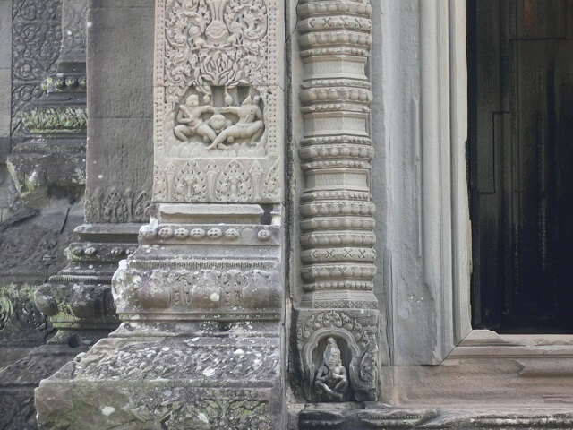 カンボジアのシェムリアップ遺跡