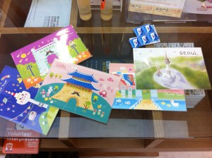 cutest post cards ever!!! They didn't have any photography style ones, all art.