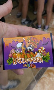 Halloween Ticket, the other side has a barcode you scan for fast passes