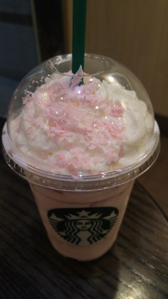 Cherry blossom season expands into foods and drinks. Like a white chocolate cherry blossom drink at starbucks or cherry blossom flavored gum.