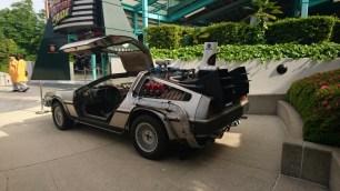 Back to the Future ride with the DeLorean