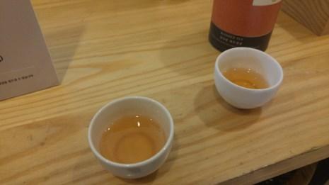 Our sample of tangerine green tea
