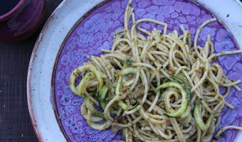 Loving on Zucchini & Tomato Pesto Pasta