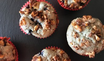 Writing about Vegan Blueberry Muffins