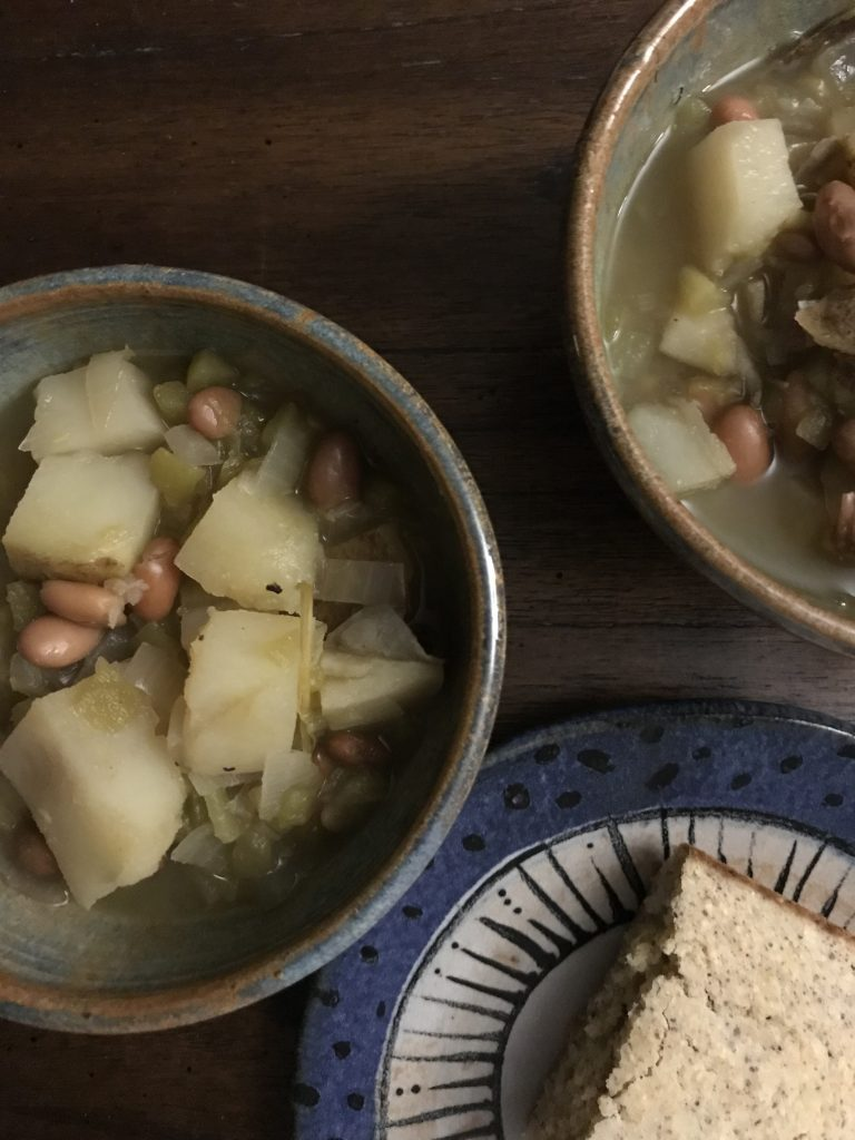 New Mexican Vegan Green Chile Stew