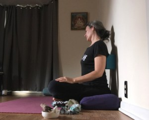 Restorative Neck Stretch with Block