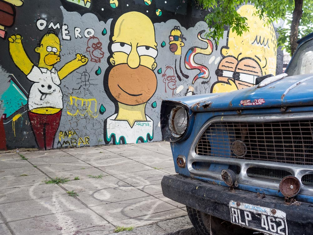 Buenos Aires Street Art Simpsons
