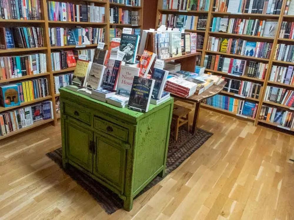 SLC Bookstores: King's English staff pics table