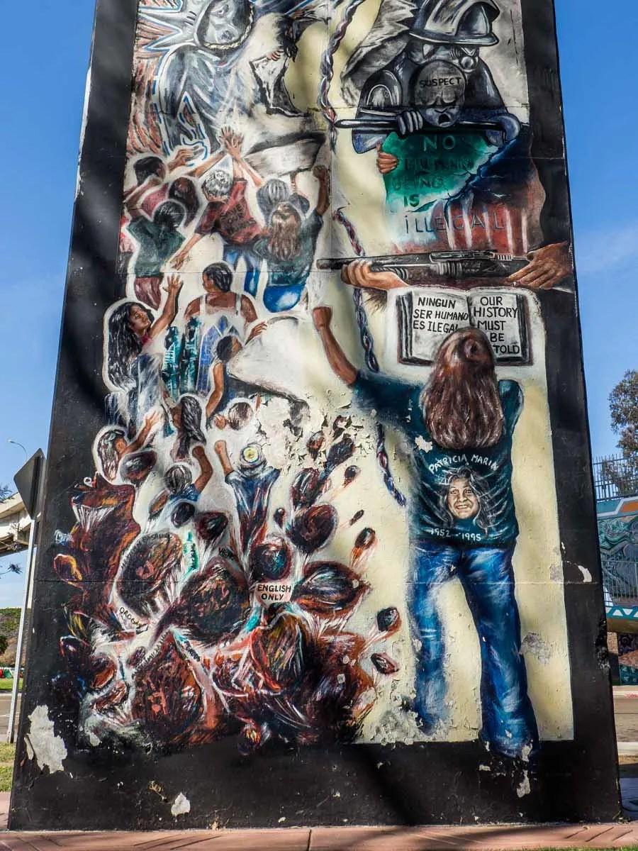 Chicano Park Street Art Ningun Ilegal