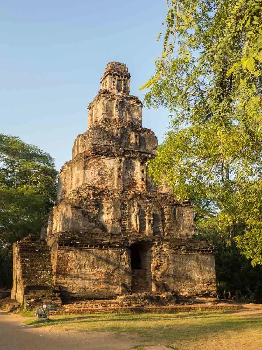 Carved temple at Polonnaruwa Sri Lanka's Goden Triangle
