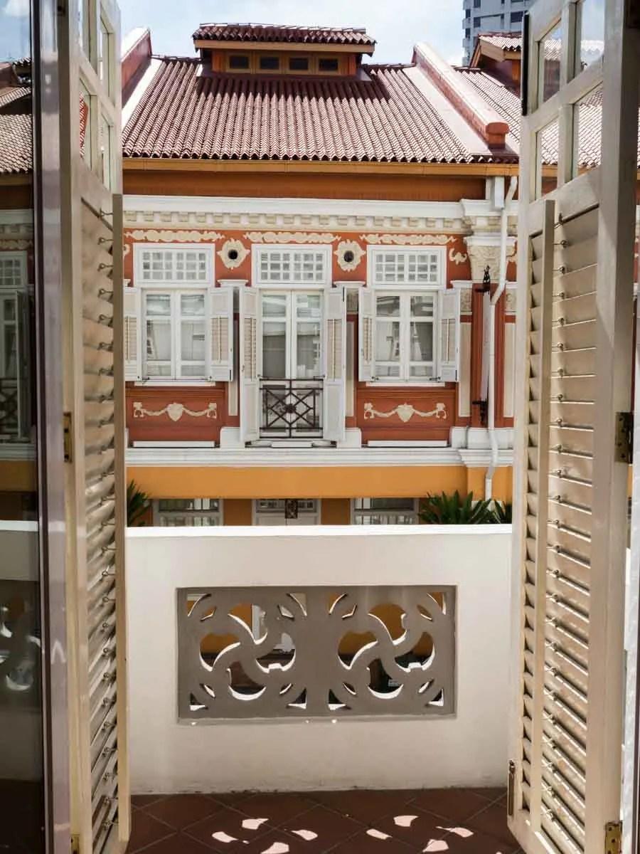 Hotel 1929 view of Chinatown Singapore