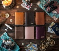 Leather Passport Covers and Luggage Tags
