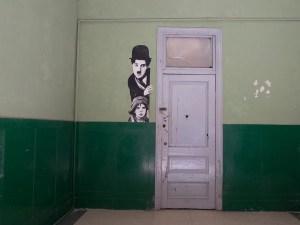 Street art in Havana Vieja- Charlie Chaplin