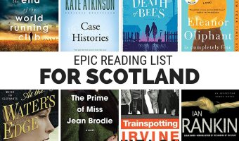 A listing of books set in Scotland, including fiction, historical fiction, classics and guidebooks.