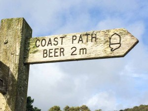 England Beer Coast Path Sign