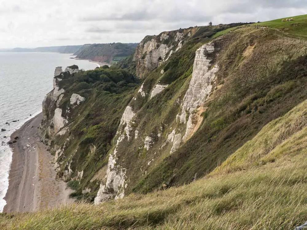 England Sidmouth Jurassic Coast Devon Cliffs