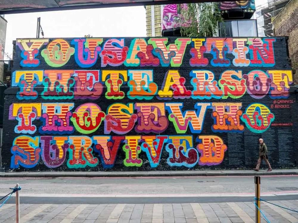Shoreditch Street art by Ben Eine
