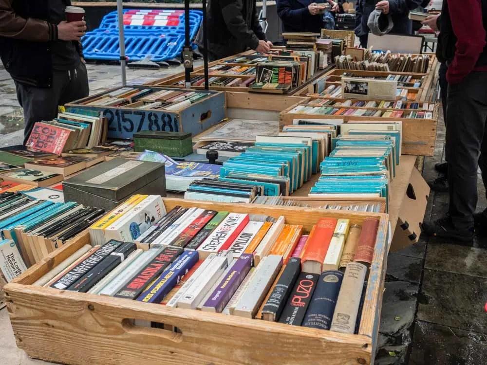 Temple Bar Book Market in Dublin