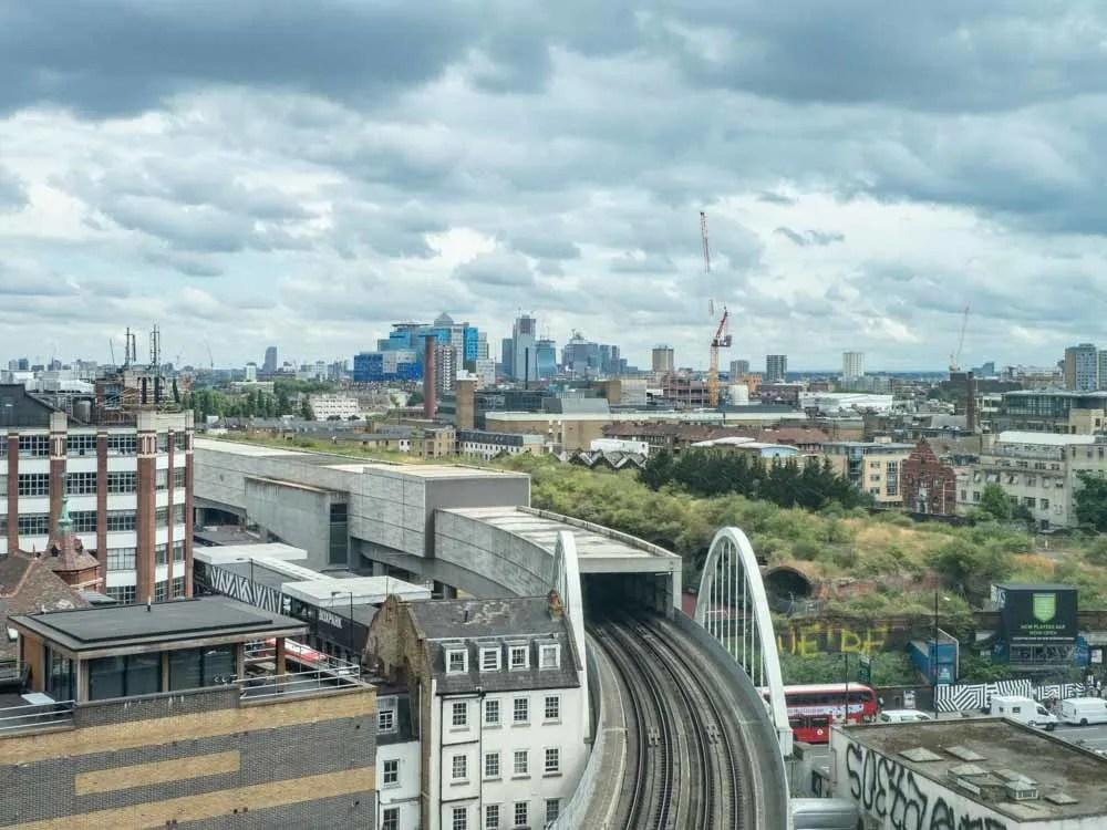 Shoreditch London Skyline