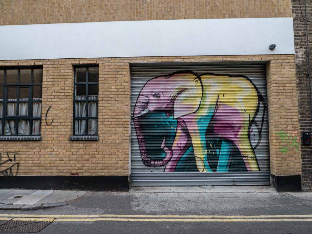Brick Lane street art elephant