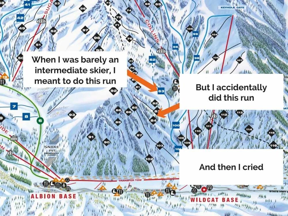 Skiing Mishap at Alta Ski Resort